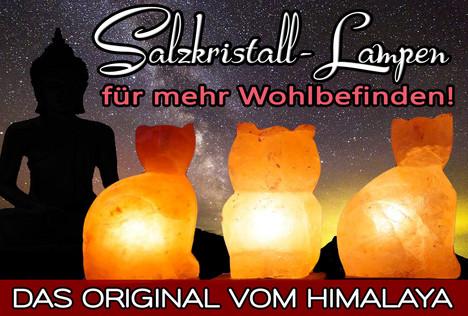 Salzkristalllampen – GESUND & SCHÖN! Für ein sauberes Raumklima und Energie!