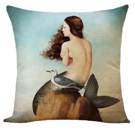 Polster / Kissen im extravaganten Design – Meerjungfrau – 45 x 45 cm
