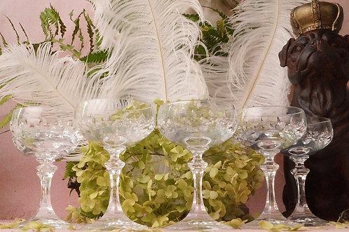 6 edle Sherry-, Likörgläser aus Kristall