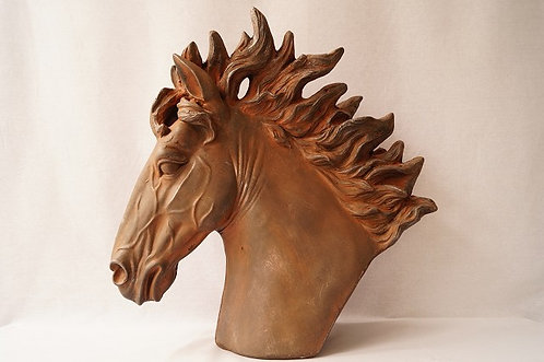 !Höhe ca. 57 cm! Elegante Pferdebüste nach altem Vorbild