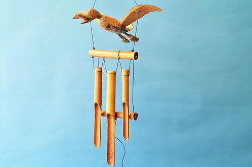 "Handarbeit! Tolles Windspiel ""Ente"" mit Bambusklangstäben"