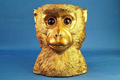 JUNGLE CHIC vom Feinsten – Blumenübertopf/Stiftehalter Affe – Höhe ca. 23 cm