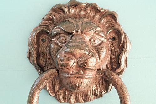Herrschaftlicher Türklopfer Löwenkopf