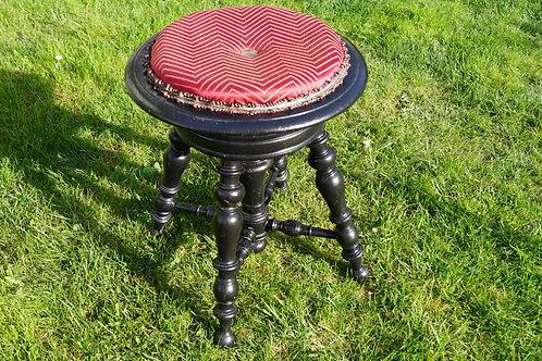 Original um 1860/1880 - toller, höhenverstellbarer Klavierhocker