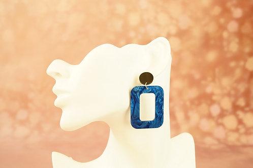 Statement-Ohrring aus angesagtem Acryl – ca. 6 cm lang