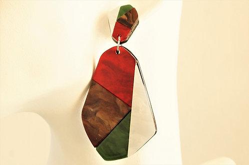 Acryl-Kunst - Geometrische Formen - Ohrringe