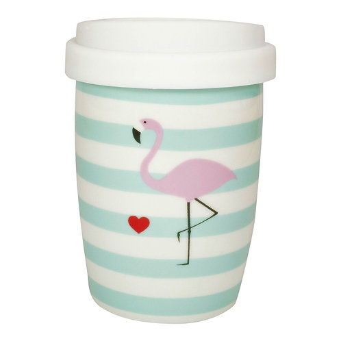 Coffee 2 Go aus Porzellan 250 ml – Flamingo