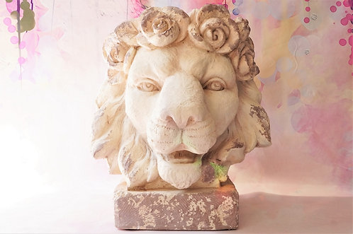 Außergewöhnlicher Blumentopf in Form einer Löwenbüste – Höhe ca. 40 cm