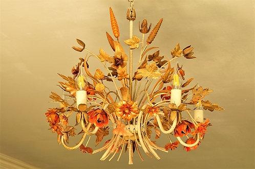 Alter Florentiner Luster im exquisiten Design und toller Farbpracht