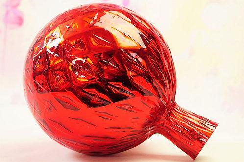 Rosenkugel aus Glas – große Kugel - Höhe ca. 23 cm, DM ca. 18 cm
