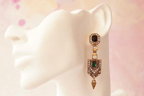 Ohrringe im Stil des Art Deco  – ca. 6,5 cm lang