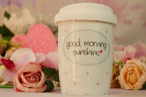 Coffee 2 Go aus Porzellan 250 ml – GOOD MORNING SUNSHINE
