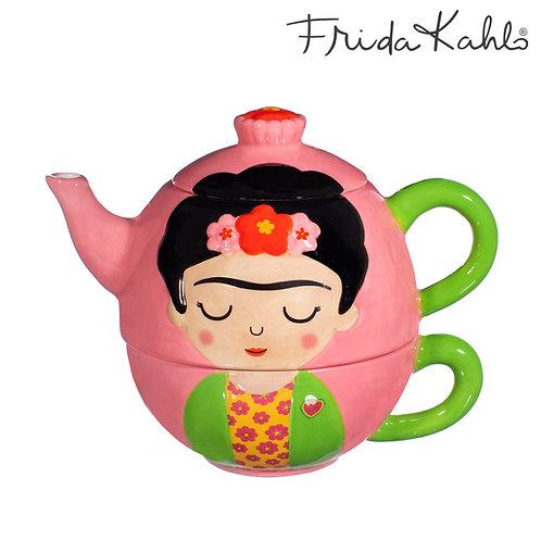 It´s FRIDA! Angesagtes Frida Kahlo Tea for One - Set aus Steingut