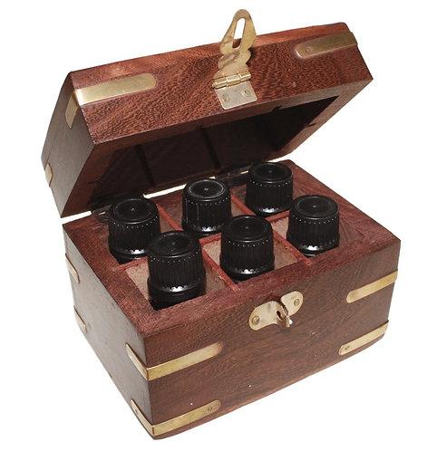 Kunstvolle Box für ätherische Öle - Aromatherapie vom Feinsten! für 6 Öle