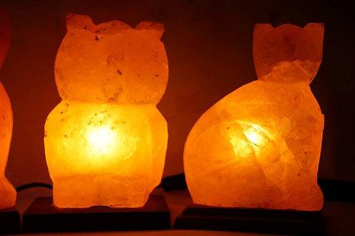 ORIGINAL vom HIMALAYA! Salzkristalllampe - Katze - ca. 3kg und ~ 22 x 15 cm