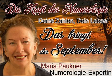 NUMEROLOGIE – die Kraft der Zahlen! Expertin Maria Paukner sagt uns, was der September bringt.