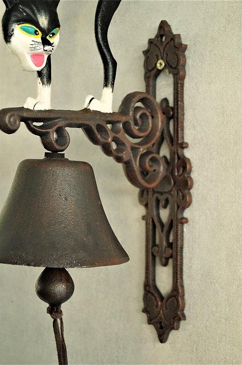 EISEN!!! Glocke mit Katze! Ein entzückendes Stück Nostalgie!
