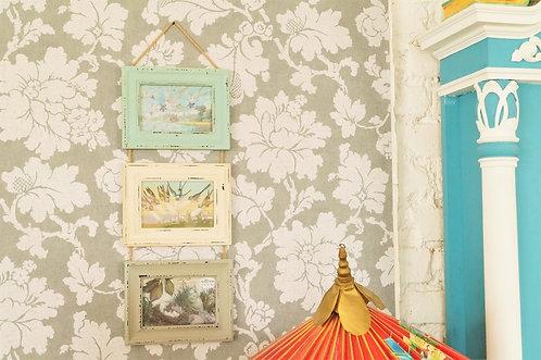 3er Bilderrahmen in Pastell zum hängen