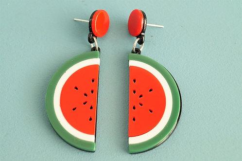 Acryl-Kunst - Wassermelonen Ohrringe