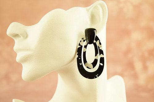 Statement-Ohrring aus angesagtem Acryl – ca. 6,6 cm lang
