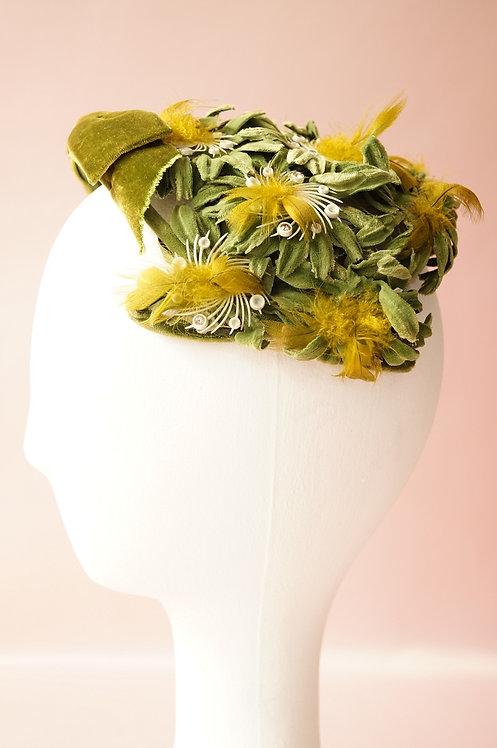 Wunderbares, sehr elegantes Headpiece aus den 50er/60er Jahren