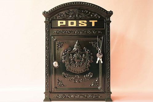 Amoretten! Großer, herrschaftlicher Postkasten mit Schloß! Nach altem Vorbild