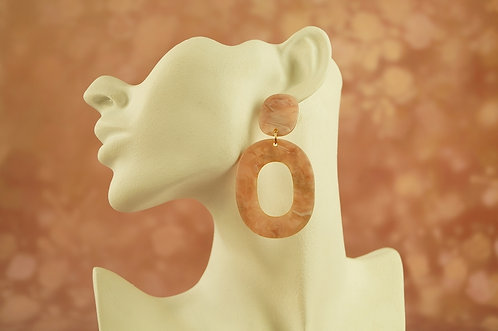 Statement-Ohrring aus angesagtem Acryl – ca. 8 cm lang