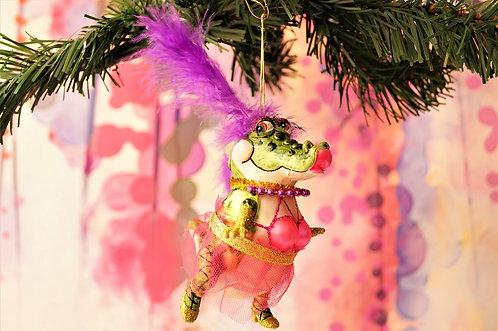 Fabelhafte Alligator-Dame im TuTu - genialer Christbaumschmuck
