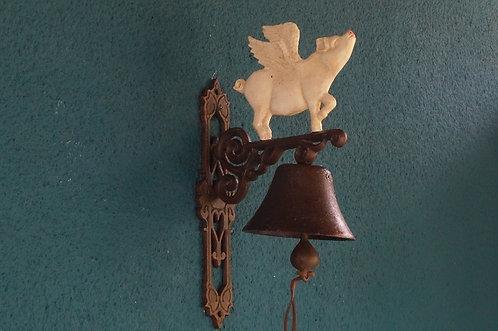 EISEN!!! Glocke mit geflügeltem Schwein! Ein tolles Stück Nostalgie!