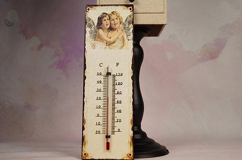 Thermometer aus Metall mit Engeln