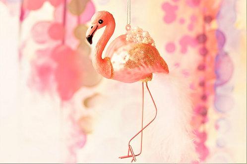 Glitzernder Flamingo  - genialer Christbaumschmuck
