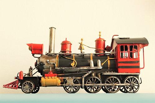 Nostalgische, handbemalte Lokomotive - ca. 35 cm lang!