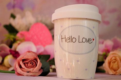 Coffee 2 Go aus Porzellan 250 ml – HELLO LOVE