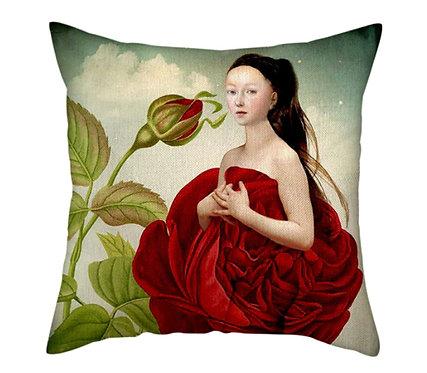 Polster / Kissen im extravaganten - Das Rosenkleid