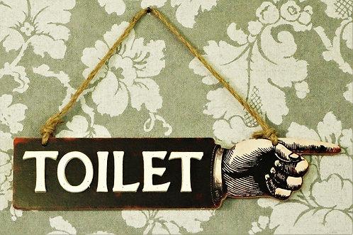 """Metallschild """"Toilet"""" im Vintage-Look"""