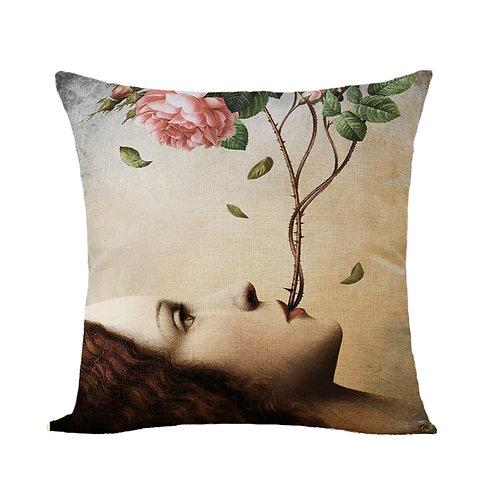 Polster / Kissen im extravaganten Design – Mutter Erde – 45 x 45 cm
