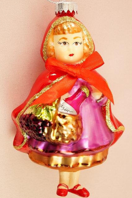 Rotkäppchen – mundgeblasener und handbemalter Christbaumschmuck