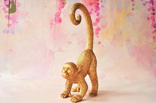 Entzückende, dekorative Affenfigur aus Kunstharz – Höhe ca. 26 cm