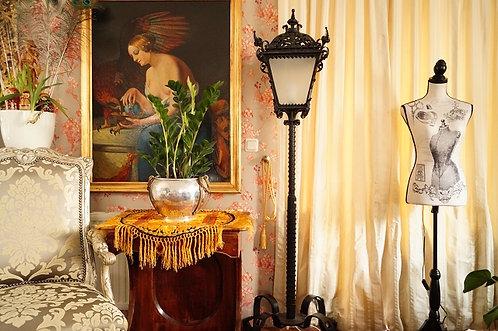 Extravagant und handgemacht! Schmiedeeisen Laterne – Höhe ca. 190 cm