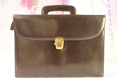 Alte, geniale Vintage-Aktentasche – dunkelbraun, gemarkt