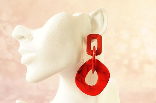 Statement-Ohrring aus angesagtem Acryl – ca. 8,6 cm lang