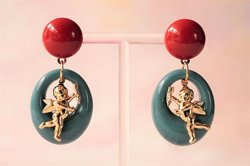 Acryl-Kunst vom Feinsten - Amor Ohrringe
