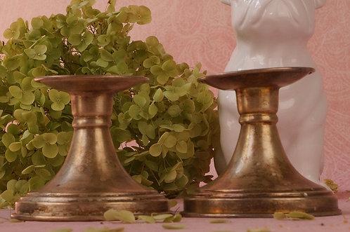 VERSILBERT! 2 alte, entzückende Kerzenleuchter