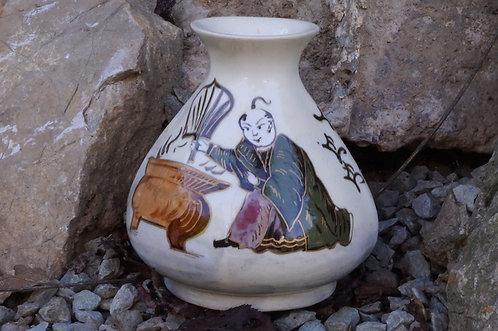 ALTE ASIATIKA! Handbemalte Vase
