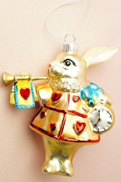 Wunderland Hase– mundgeblasener und handbemalter Christbaumschmuck