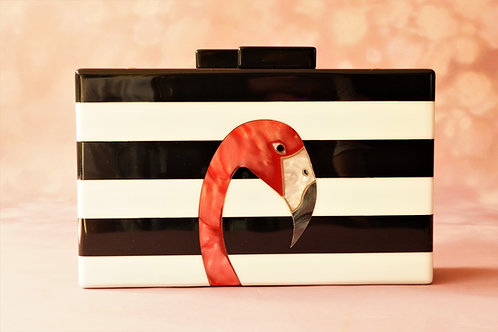 IT-PIECE mit Flamingo! Grenzgeniale Clutch aus Acryl!