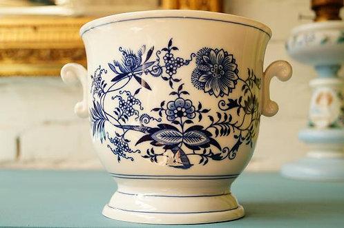 ZWIEBELMUSTER Blumenübertopf ca. 14,5 cm (H) x 15,5 cm (DM) – klassisch, elegant