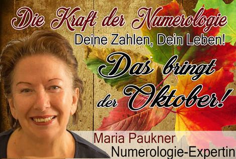 NUMEROLOGIE – die Kraft der Zahlen! Expertin Maria Paukner sagt uns, was der Oktober bringt.