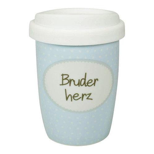 Coffee 2 Go aus Porzellan 250 ml – Bruderherz