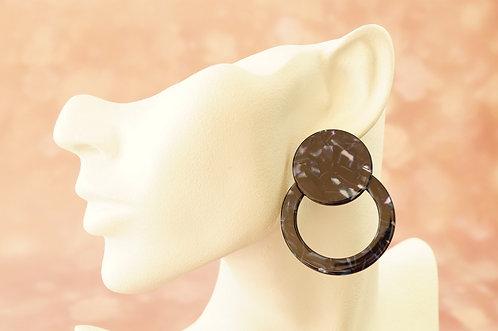 Statement-Ohrring aus angesagtem Acryl – ca. 5 cm lang